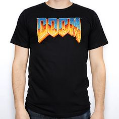 There's not a lot left to be said about DOOM. So we're going to take a note from the original Space Marine himself and just not say anything. Men's 100% premium cotton black t-shirt with 4-color screenprint on front.