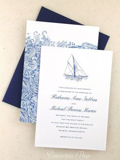 Sailboat Wedding Invitation Set - Kelly and Duke Wedding - Yacht wedding Nautical Wedding Invitations, Glitter Invitations, Watercolor Wedding Invitations, Floral Wedding Invitations, Wedding Stationery, Wedding Planner, Invitation Envelopes, Invitation Templates, Invitation Cards