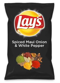 Wouldn't Spiced Maui Onion & White Pepper be yummy as a chip? Lay's Do Us A Flavor is back, and the search is on for the yummiest flavor idea. Create a flavor, choose a chip and you could win $1 million! https://www.dousaflavor.com See Rules.