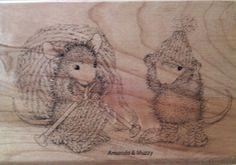 "#HouseMouse ""Knit Gift"" #RubberStamp  http://www.ebay.com/itm/262286872651?ssPageName=STRK:MESELX:IT&_trksid=p3984.m1555.l2649 #cardmaking #scrapbooking #papercraft #copicmarkers"