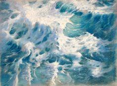Mediterráneo. Soft pastel on Canson paper. 70x60 cms by Susana Correa Llobet