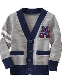 Graphic-Applique V-Neck Cardigans for Baby
