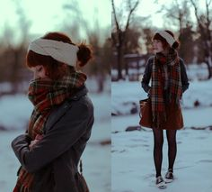 Uo Headband, Sheinside Scarf, Modcloth Suede Skirt, Leather Jacket, Modcloth Saddle Shoes - EDIT - The Clothes Horse R