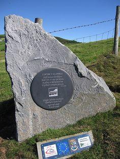 Ceredigion coast path plaque