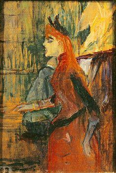 Singing Lesson - Henri de Toulouse Lautrec  1882  French 1864-1901  Musée Toulouse-Lautrec.