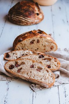 Hint of Vanilla: Kalamata Olive Bread Croissants, Bread And Pastries, Cooking Bread, Bread Baking, Bread Bun, Bread Rolls, Kalamata Olive Bread, Our Daily Bread, Artisan Bread