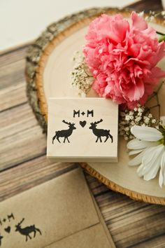 Custom Rustic Deer Stag Buck Couple Gay by RedCloudBoutique Wedding In The Woods, Our Wedding, Dream Wedding, Wedding Envelopes, Wedding Invitations, Invites, Wedding Trends, Wedding Ideas, Groom Accessories