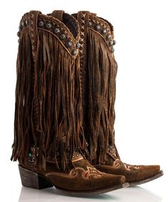 ❦ Spring 2014 COLLECTION  Double D Ranch - Prescott Fringed Boot - Boots - Apparel Collection