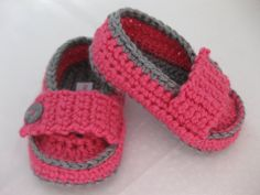 Easter Baby Girl Moccasin Style Pink & Grey by abitofLovely, $20.00