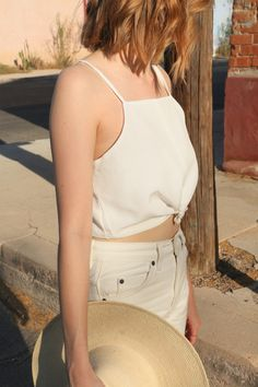 Beautiful lined tank with spaghetti straps. Made from a hemp, organic cotton and silk blend. Fashion Shoot, Fashion Outfits, Fashion Trends, Couture Looks, Street Style 2017, Oui Oui, Summer Tops, Crop Tank, Aesthetic Clothes