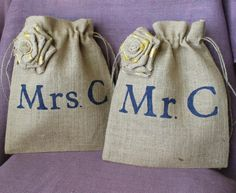 Wedding Money Dance Bag. Mr. & Mrs. Bags. by MadyBellaDesigns