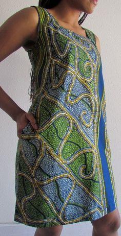 African Print Shift Dress by ifenkili on Etsy, $30.00