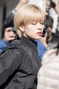 Are One Idols// Twice- Jeongyeon Suwon, Nayeon, Two Block Haircut, Twice Jungyeon, Kpop Hair, Let Your Hair Down, Girl Haircuts, K Idol, Pixie Hairstyles