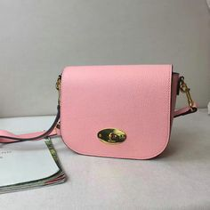 2017 Spring Mulberry Small Darley Satchel in Macaroon Pink Small Classic  Grain Leather Mulberry Outlet a2fc76fce1797