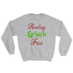d5ffd555918 Resting Grinch Face Cute and Funny Christmas Holiday Grinch Grinch Stole  Christmas