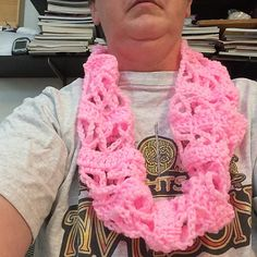 Ravelry: tygger428's Crochet Awareness Ribbon Scarf (Pink for Breast Cancer or other Causes)