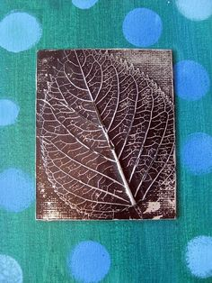 Leaf under Aluminum Foil - Art Club by bessie