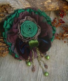 "Brooch handmade.  Fair Masters - handmade.  Buy Brooch ""Sherwood Forest"".  Handmade.  Brooch, fabric brooch, chiffon"