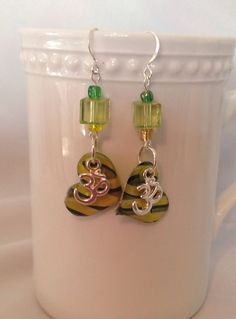 Recycled Eco Friendly earrings made from aluminum beer cans.  on Etsy, $6.25