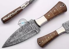 "8.00"" Custom Made Beautiful Damascus Steel Dagger Knife (AA-0356-1) #UltimateWarrior"