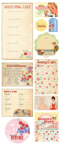 Collected Memories - Kitschy Kitchen Retro Chipboard