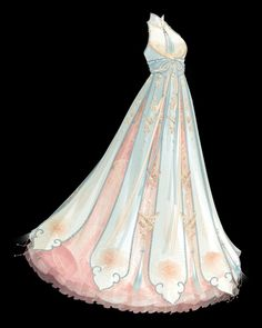 Dress Design Sketches, Fashion Design Drawings, Pretty Outfits, Pretty Dresses, Cute Outfits, Might Night, Anime Outfits, Fashion Outfits, Anime Girl Dress