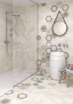 50+ Modern Cool Hexagon Tiles Ideas For Bathrooms