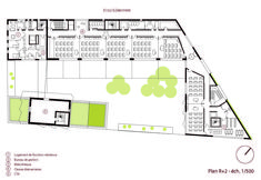 School Group and Student Housing,Second Floor Plan