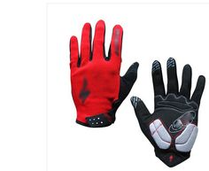 Generic Full Finger Cycling Bicycle Touch Gloves Road Mountain Sports Damping Gloves Large Size - Red -- You can find more details by visiting the image link.