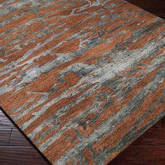 Surya Banshee Sepia/Slate Blue Area Rug & Reviews | Wayfair.ca