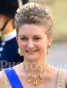 Photoshop photo of Stephanie wearing the Murat tiara