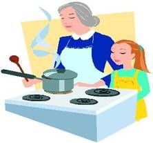 Kids Cooking lesson Plans - teaches skills and gives recipes.