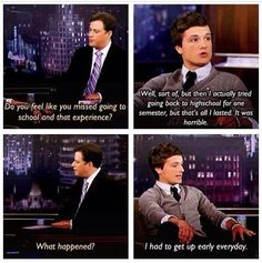 Josh Hutcherson-- This is how I am all the time.