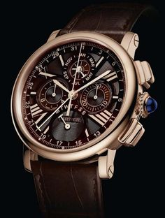 youngsophisticatedluxury: Cartier | Rotonde Perpetual Calendar | Chronograph Rose Gold Chocolate | Sophisticated Luxury Blog:. (youngsophisticatedluxury.tumblr.com