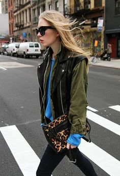 Inspiring street style and layering with textures