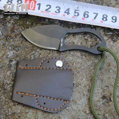 Survie En Plein Air Camping Mini Mousqueton Couteau EDC Multi Fonction Outil MC Petit couteau avec couverture en cuir Livraison Gratuite GS-0013