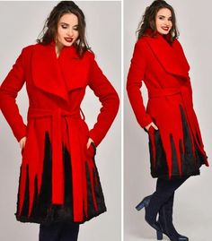 Paltoane De Iarna - Modele Cambrate Largi - Ce se poarta in iarna 2020 Dresses With Sleeves, Coat, Long Sleeve, Jackets, Fashion, Tricot, Gowns With Sleeves, Moda, Full Sleeves
