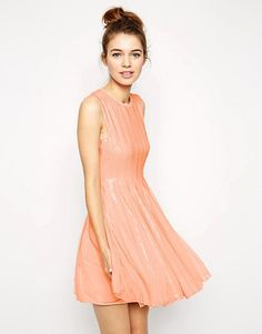 ASOS | ASOS Mesh And Sequin Skater Dress