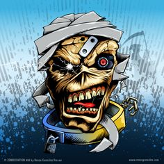 Eddie from Iron Maiden, full vector illustration.