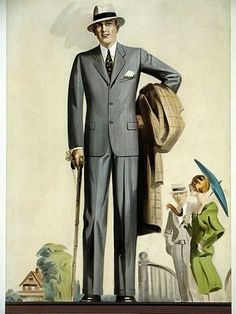 1928......elegant for a walk in the country...