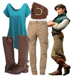 """Flynn Rider"" by waitingformybucky ❤ liked on Polyvore featuring Disney, Doublju, Japan Rags, Naturalizer and Accessorize"