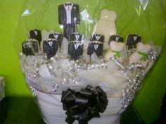 Wedding Cookies.....Brought to you by Cookies In Bloom , Phoenix AZ, they ship, call 602-955-3030  300 designs.