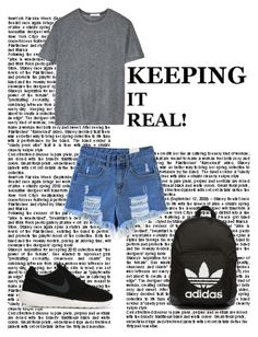 """""""two"""" by avatori on Polyvore featuring T By Alexander Wang, NIKE and adidas Originals"""