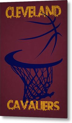 Cavaliers Metal Print featuring the photograph Cleveland Cavaliers Hoop by Joe Hamilton