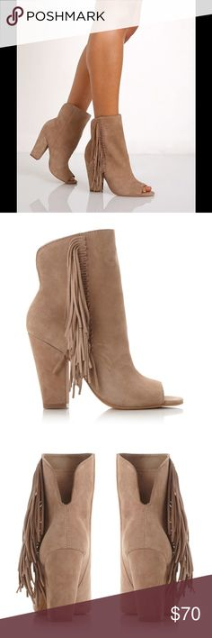 NWT Dolce Vita Mazarine fringe booties These are brand new and never worn! Super soft suede and really adorable boots, I just don't like the way they look on me. I have never worn these and have only ever tried on in my home. I have the original box and everything. Can upload more pics upon request! Dolce Vita Shoes Ankle Boots & Booties