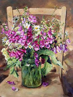 Мобильный LiveInternet Есть, есть душа у каждого цветка... Художница Anne Cotterill. Часть 1. | blu_Marino - Дневник blu Marino |