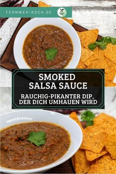 Rauchig-Pikante Salsa Soße selber machen. #Salsa #Rezept #Dip #BBQ #Fingerfood #mexikanisch Chutneys, Easy Dinner Recipes, Easy Meals, Spicy Salsa, Salsa Recipe, Appetizers For Party, Food To Make, Stuffed Peppers, Cooking