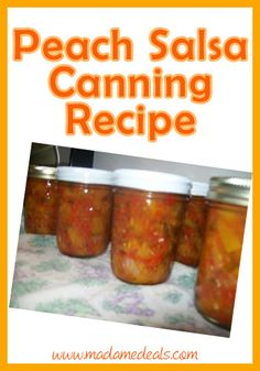 Peach Salsa Canning Recipe http://madamedeals.com/canning-peach-salsa/ #recipes #inspireothers
