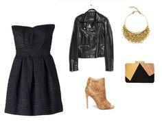 Negro con accesorios dorados!
