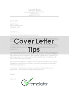 Cover Letter Tips - CVtemplater.com - Resume Generator